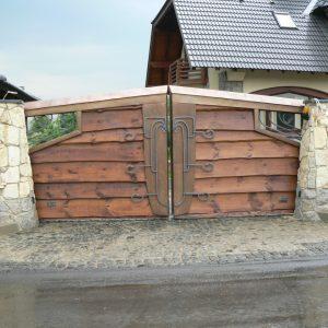 Распашные металлические (стальные) ворота