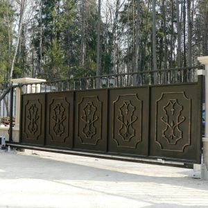 Откатные усиленные ворота Престиж
