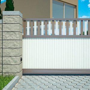 Алюминиевые откатные ворота